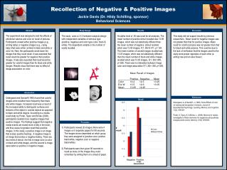 Recollection of Negative & Positive Images