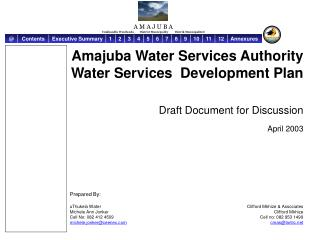 Amajuba Water Services Authority Water Services  Development Plan Draft Document for Discussion