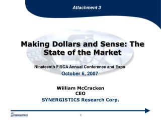 Making Dollars and Sense: The State of the Market