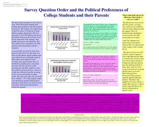 Survey Question Order and the Political Preferences of College Students and their Parents