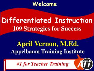 April Vernon, M.Ed. Appelbaum Training Institute