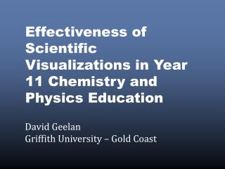 David Geelan Griffith University – Gold Coast