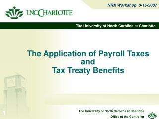 The Application of Payroll Taxes and Tax Treaty Benefits