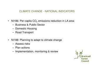 CLIMATE CHANGE - NATIONAL INDICATORS