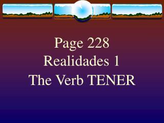 Page 228 Realidades 1