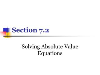 Section 7.2
