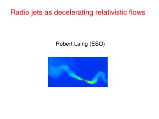 Radio jets as decelerating relativistic flows