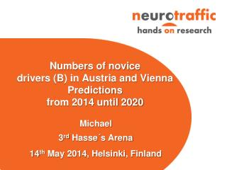 Numbers of novice drivers (B) in Austria and Vienna Predictions  from 2014 until 2020