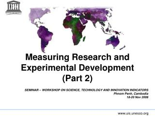 Measuring Research and Experimental Development (Part 2)