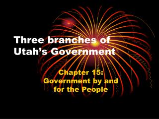Three branches of Utah's Government