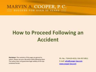 How to Proceed Following an Accident