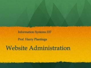 Website Administration