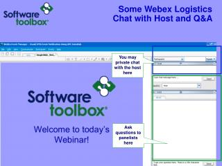 Some Webex Logistics Chat with Host and Q&A