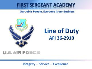 Line of Duty AFI 36-2910