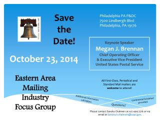 Keynote  Speaker Megan  J. Brennan Chief  Operating  Officer & Executive Vice President