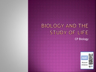 Biology and the study of Life
