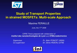 Study of Transport Properties in strained MOSFETs: Multi-scale Approach