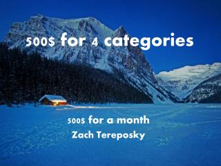 500$ for 4 categories