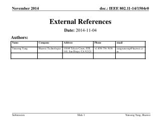 External References