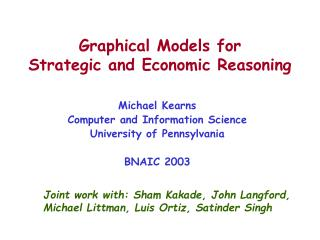 Graphical Models for Strategic and Economic Reasoning