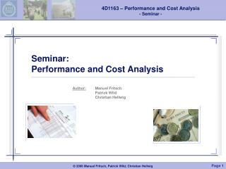 Seminar: Performance and Cost Analysis