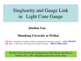 Singluarity and Gauge Link in   Light Cone Gauge