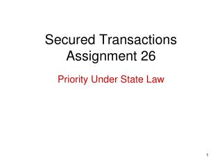Secured Transactions Assignment 26