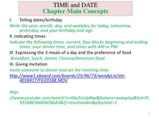 Telling dates/birthday