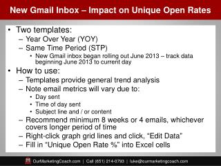 New Gmail Inbox – Impact on Unique Open Rates