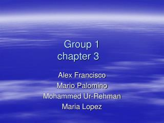 Group 1 chapter 3