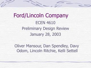 Ford/Lincoln Company