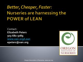 Better, Cheaper, Faster: N urseries are harnessing the POWER of LEAN