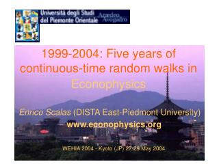 1999-2004: Five years of continuous-time random walks in Econophysics