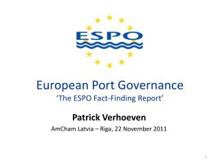 European Port Governance 'The ESPO Fact-Finding Report'