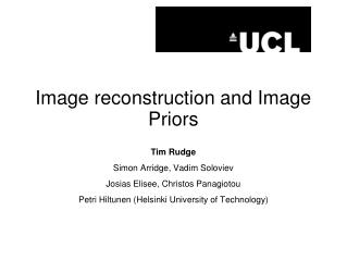 Image reconstruction and Image Priors