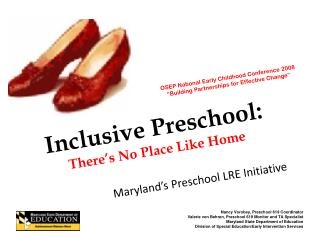 Inclusive Preschool: There's No Place Like Home