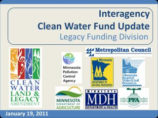 Interagency  Clean Water Fund Update
