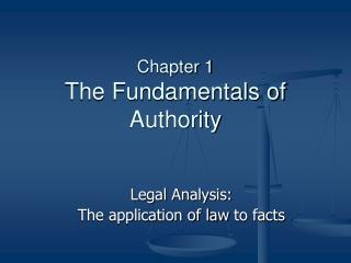 Chapter 1 The Fundamentals of  Authority