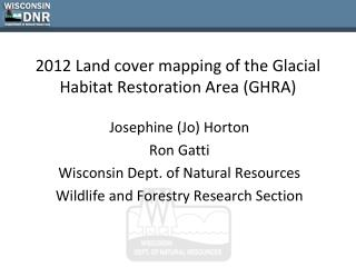 2012 Land cover mapping of the Glacial Habitat Restoration Area (GHRA)