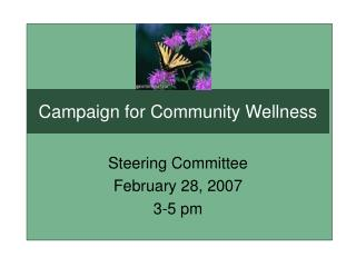 Campaign for Community Wellness