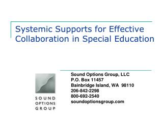 Systemic Supports for Effective Collaboration in Special Education