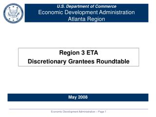 U.S. Department of Commerce Economic Development Administration Atlanta Region