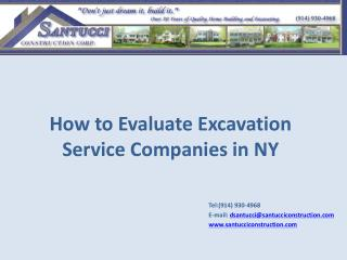How to Evaluate Excavation Service Companies in NY