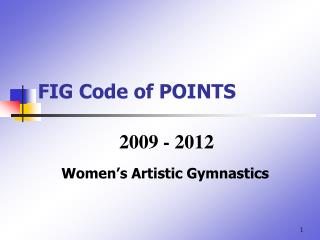FIG Code of POINTS