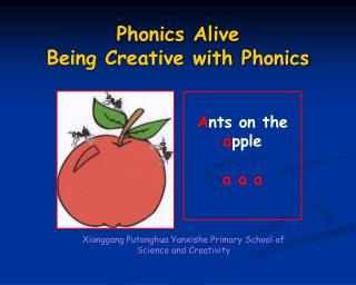 Phonics Alive Being Creative with Phonics