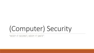(Computer) Security