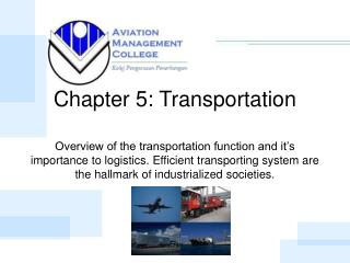 Chapter 5: Transportation