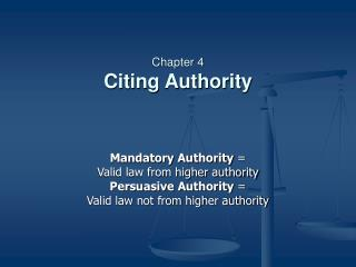 Chapter 4 Citing Authority
