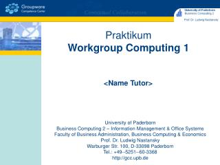 Praktikum Workgroup Computing 1