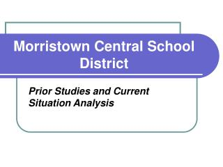 Morristown Central School District